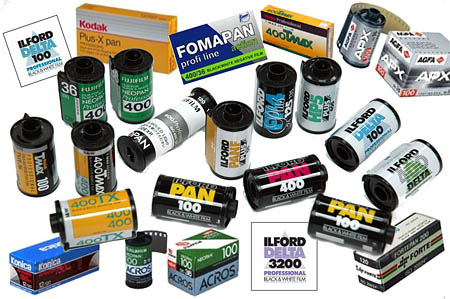 Black white film processing